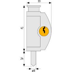 Abus raamslot FTR42 - Technische tekening