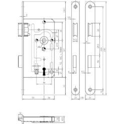 KFV 104 baardslot - Technische tekening