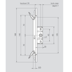 Roto 387923 - Technische tekening