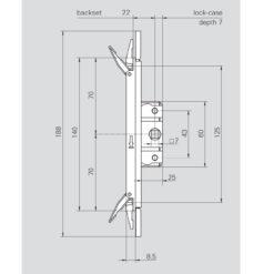 Roto 387924 - Technische tekening