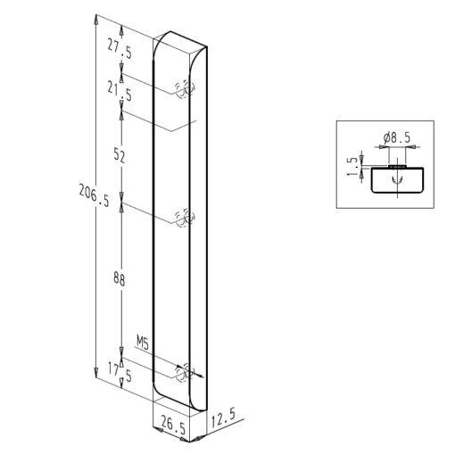 Sobinco 824ECL VI - Technische tekening