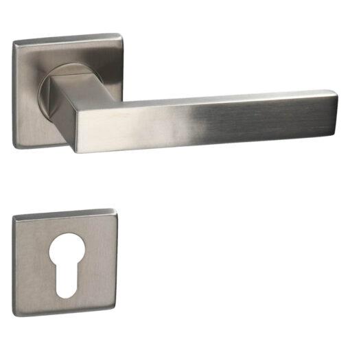 HDD PRO 6.423.001 deurkruk Cosmic - Inox - Rozet met cilinderopening