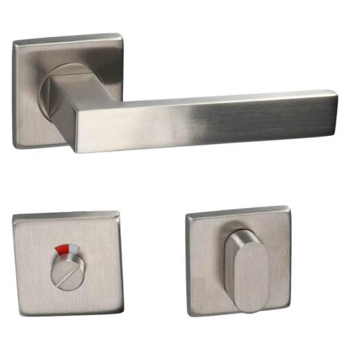 HDD PRO 6.423.002 deurkruk Cosmic - Inox - Rozet met WC sluiting