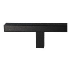 WALA rechthoekige deurgreep met rechte kant - Zwart - 2