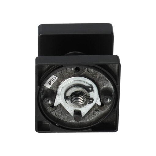 Intersteel 0023.212602 - Zwarte vaste deurknop vierkant - Achter aanzicht