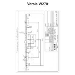 KFV AS2502 W270 - Technische tekening
