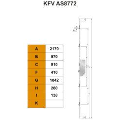KFV AS8772 meerpuntsluiting - Technische tekening