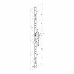 Technische tekening Sobinco 8411 rol meerpunt met vlakke voorplaat