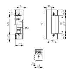 Dorma elektrische deuropener Basic R E - 15111206 - Technische tekening