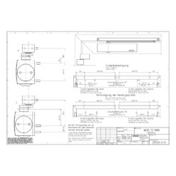GEZE TS5000 - Technische tekening
