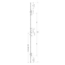 Winkhaus M2 meerpuntssluiting met 2 haken - Technische tekening