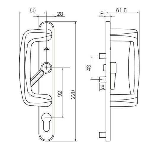 Roto 613217 - Technische tekening